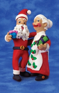 Clay Santa and Mrs. Clause