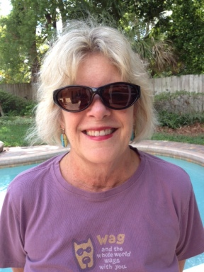 Liz wearing Solar Shield sunglasses